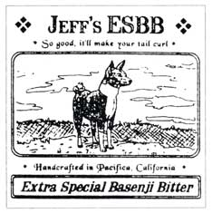 1994 Basenji Beer Label