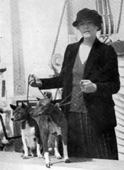 Lady Helen Nutting on ship board