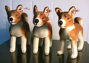 Photo of Steiff Basenjis